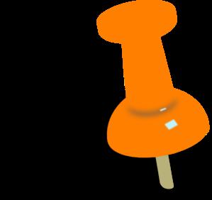 clip art freeuse stock Orange Push Pin Clip Art at Clker