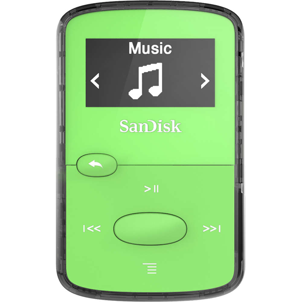 vector black and white download Sandisk mp player green. Clip jam.
