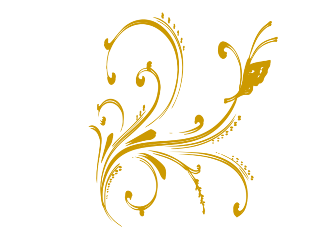 banner transparent File floral design with. Clip jam gold butterfly.