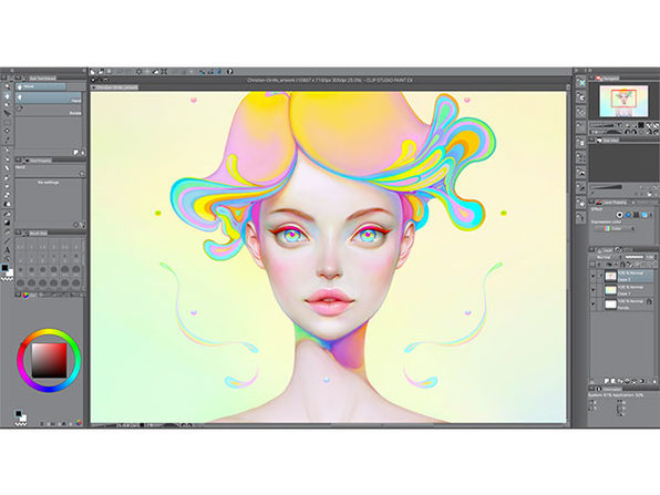 image black and white library Clip mac. Studio paint pro for