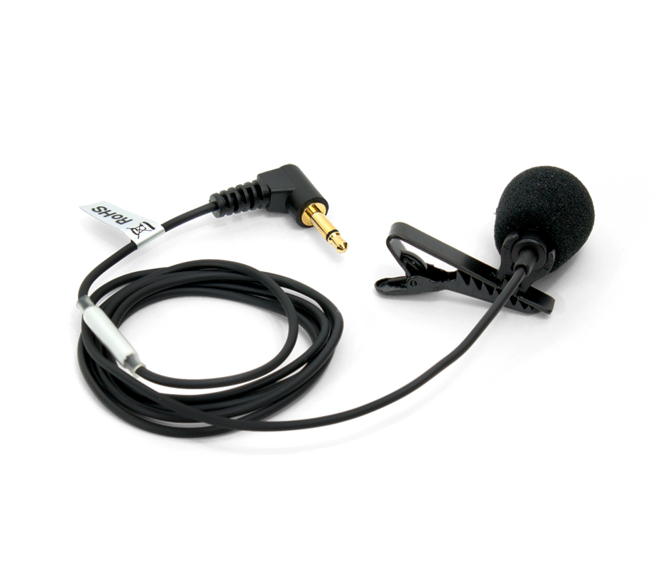 svg black and white stock Directional lapel mic