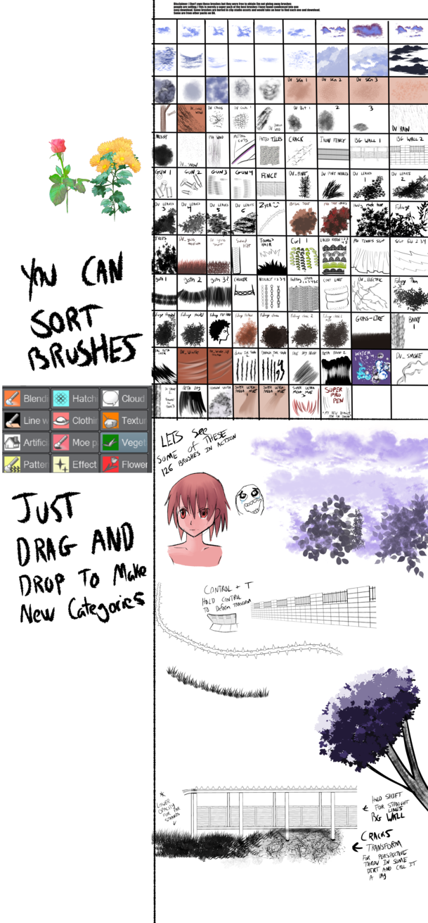 clip black and white library ULTIMATE CLIP STUDIO PAINT BRUSH COLLECTION