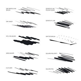 vector black and white library CLIP STUDIO PAINT Superhero Brush Pack