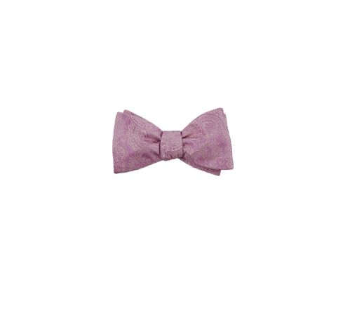 svg free download Dusty Rose Twill Paisley Bow Tie