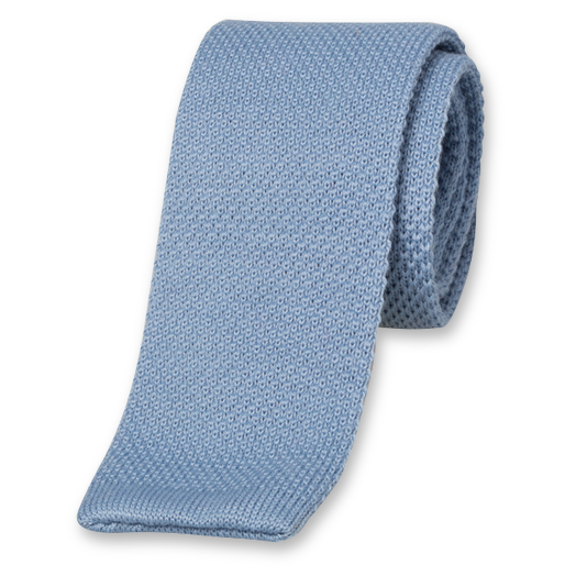 black and white download Knitted tie light blue