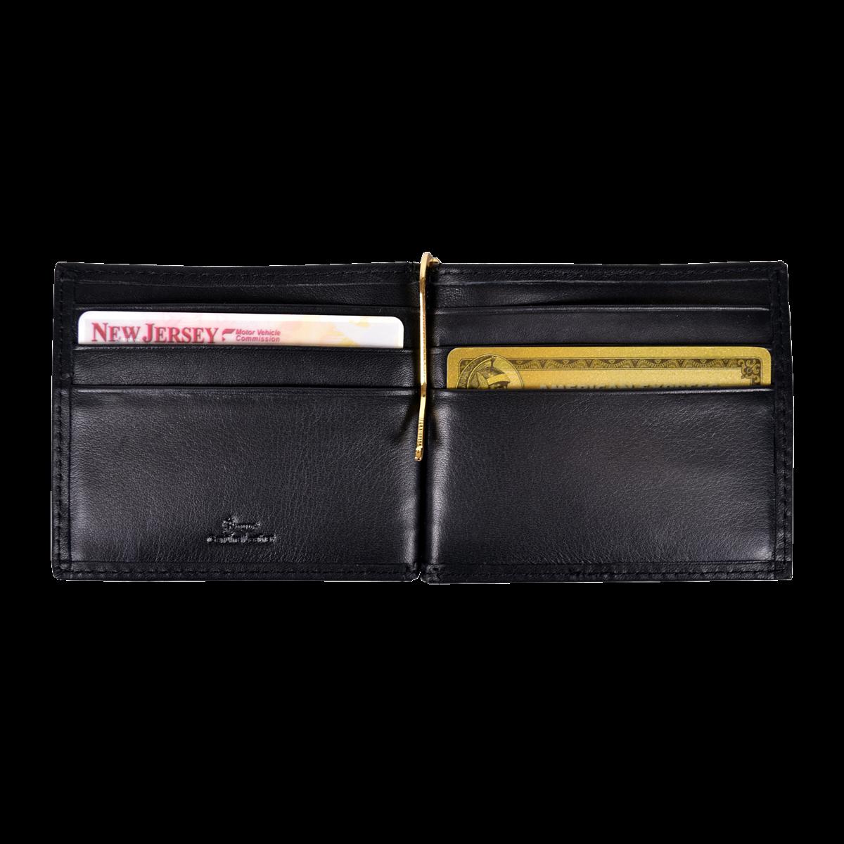 clip black and white RFID Blocking Money Clip Wallet