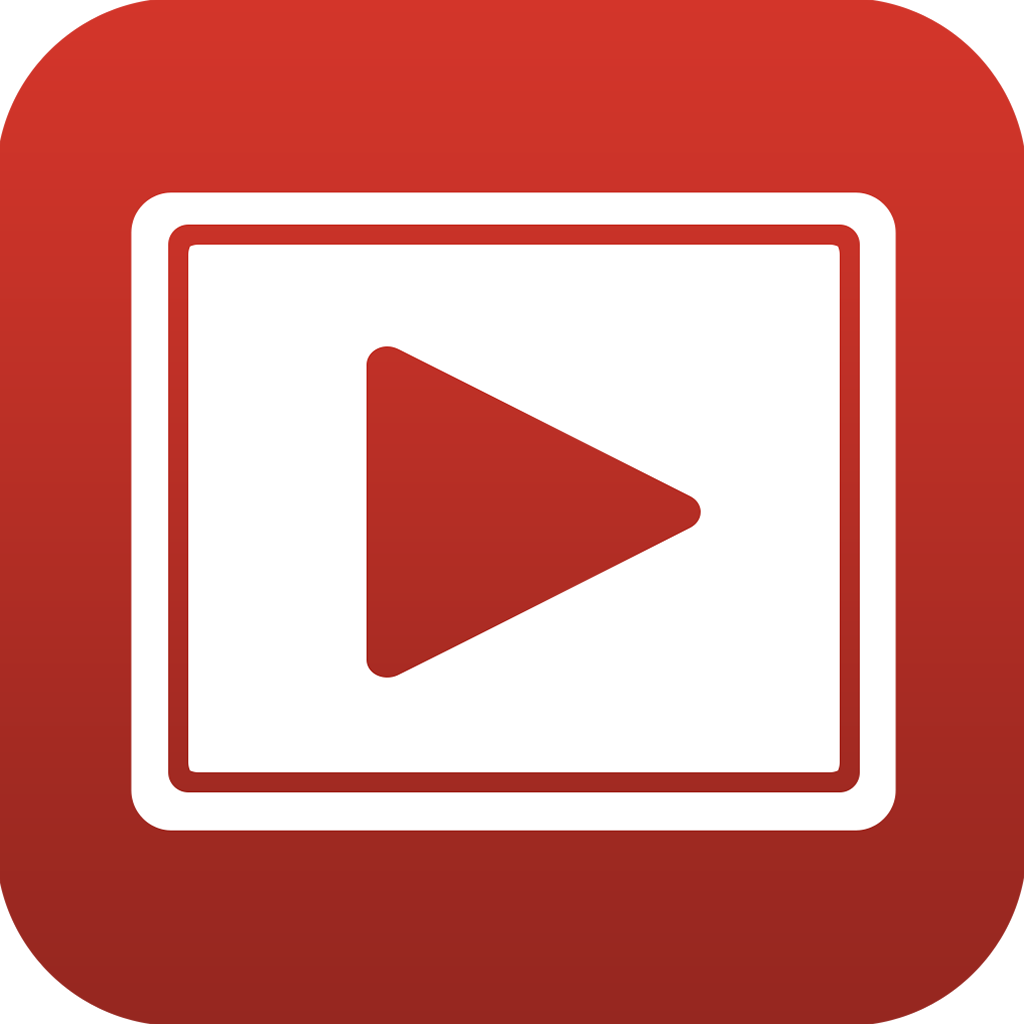 vector stock Free youtube video player. Transparent videos arrow