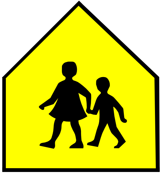picture library stock Totetude School Crossing Sign Yellow Clip Art at Clker