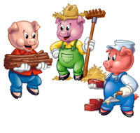 svg transparent stock The Three Little Pigs