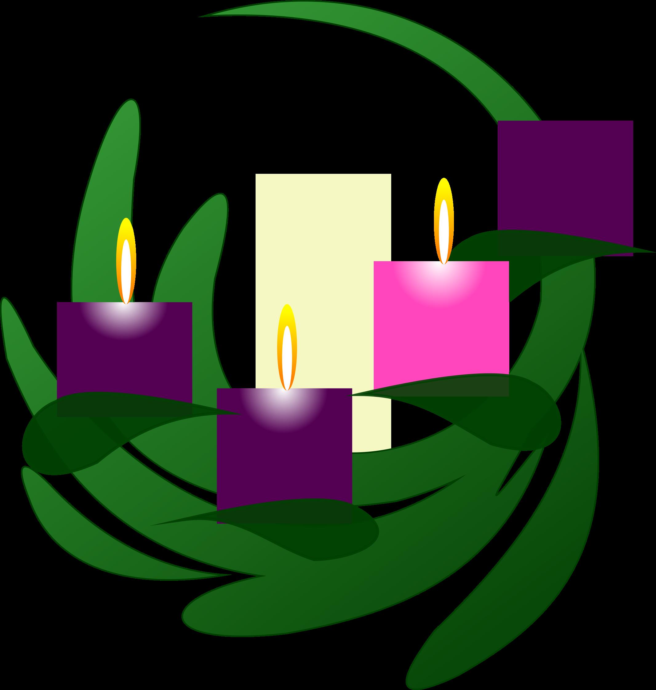 graphic transparent download Clipart advent wreath. Big image png