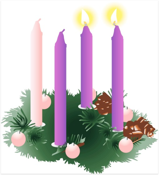 jpg black and white stock Catholic free images at. Clipart advent wreath