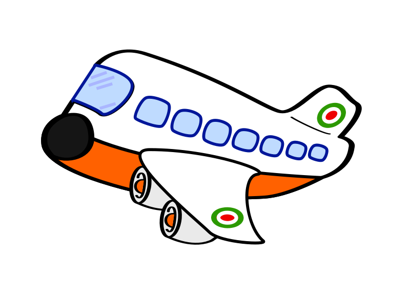 clip transparent stock Cartoon Airplane Clipart