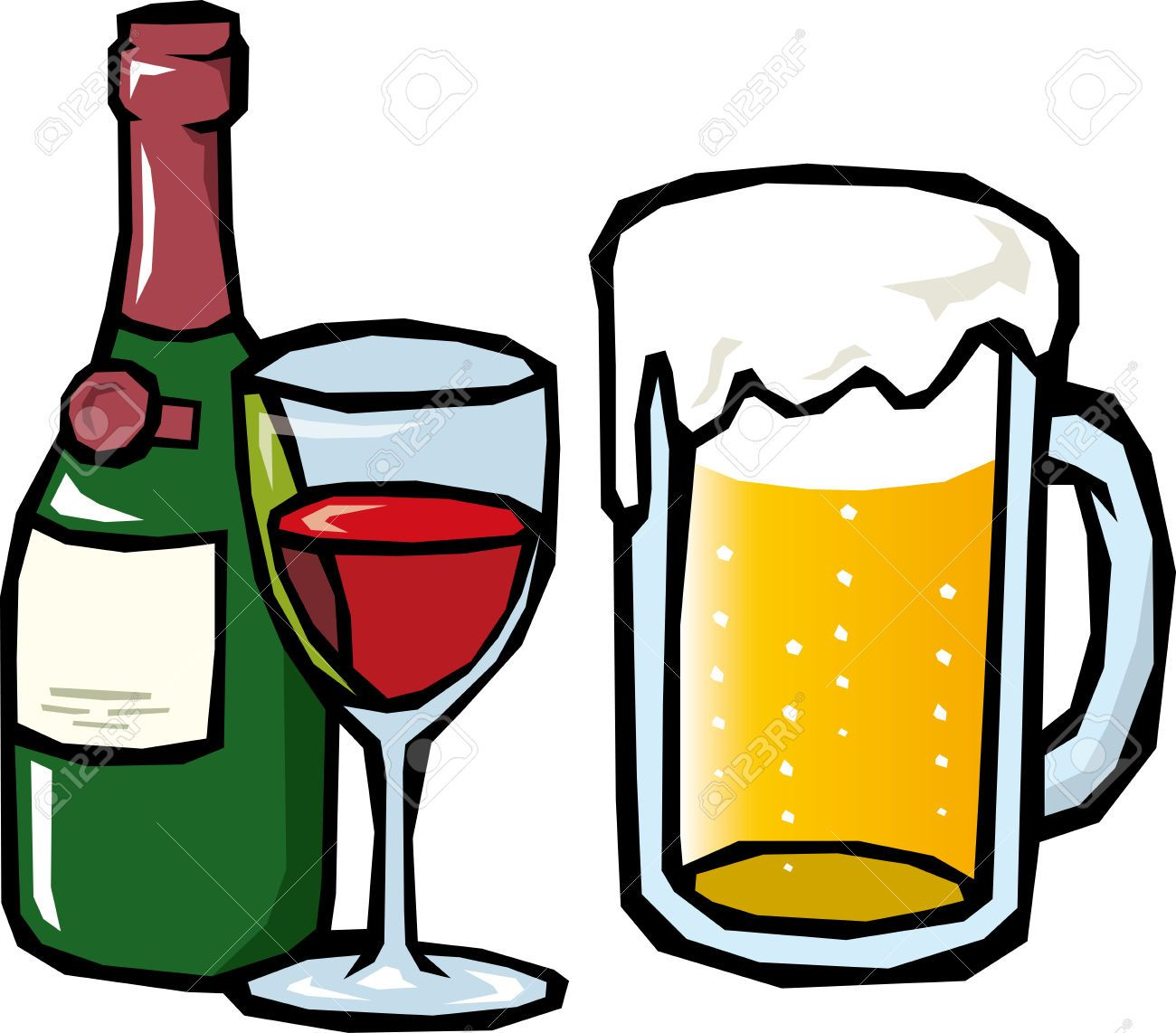 png royalty free stock Beer clip art black. Clipart alcohol.