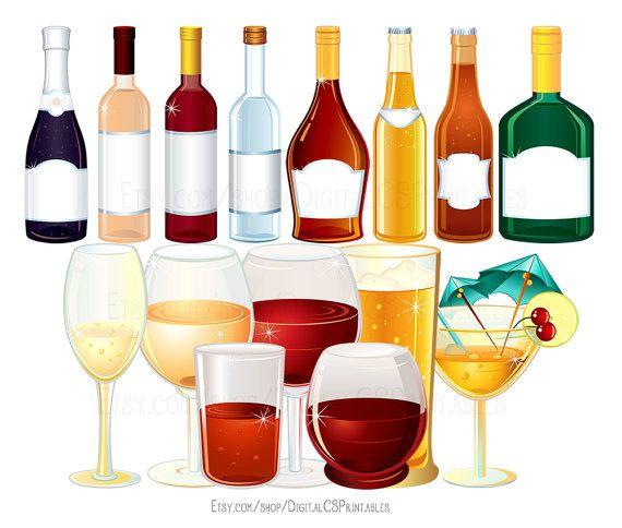 banner transparent stock Drink wine bottle . Clipart alcohol.