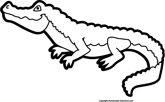 graphic free stock alligator clipart black and white #56631352