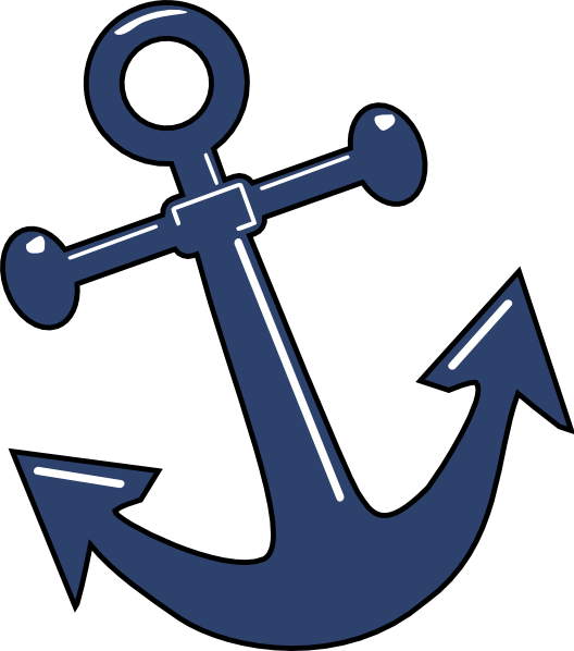 clip royalty free Vector anchors line art. Tilted anchor clip at