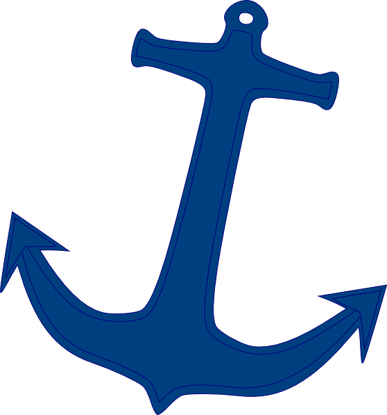 graphic black and white Navy Anchor Clip Art at Clker