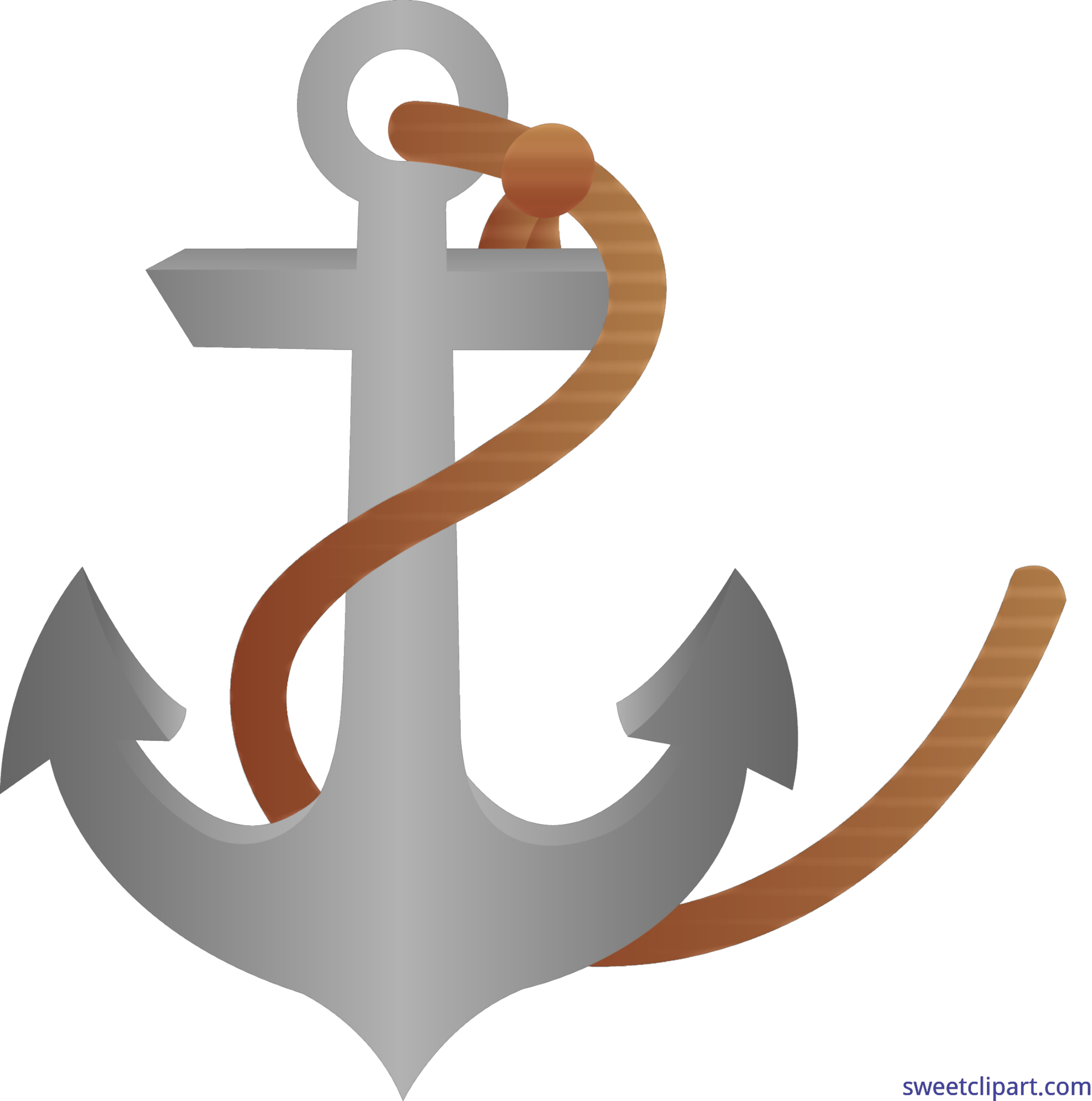 image royalty free library Anchor With Rope Clip Art