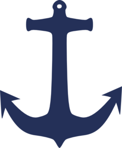 clip library library Navy Blue Anchor Clip Art at Clker