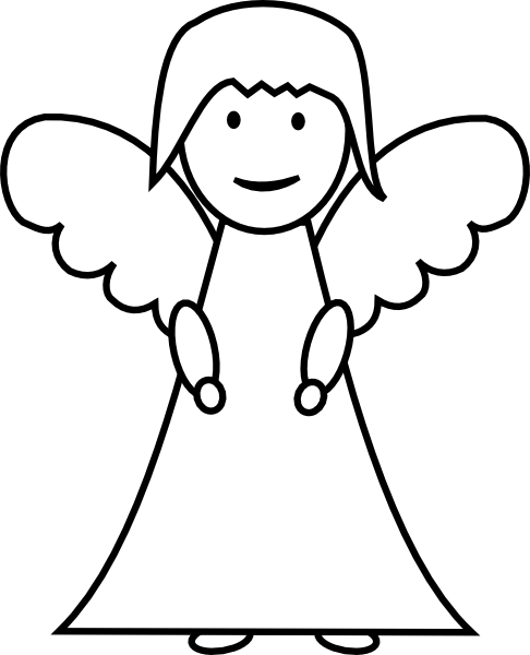 picture transparent library Angel Outline Clip Art at Clker