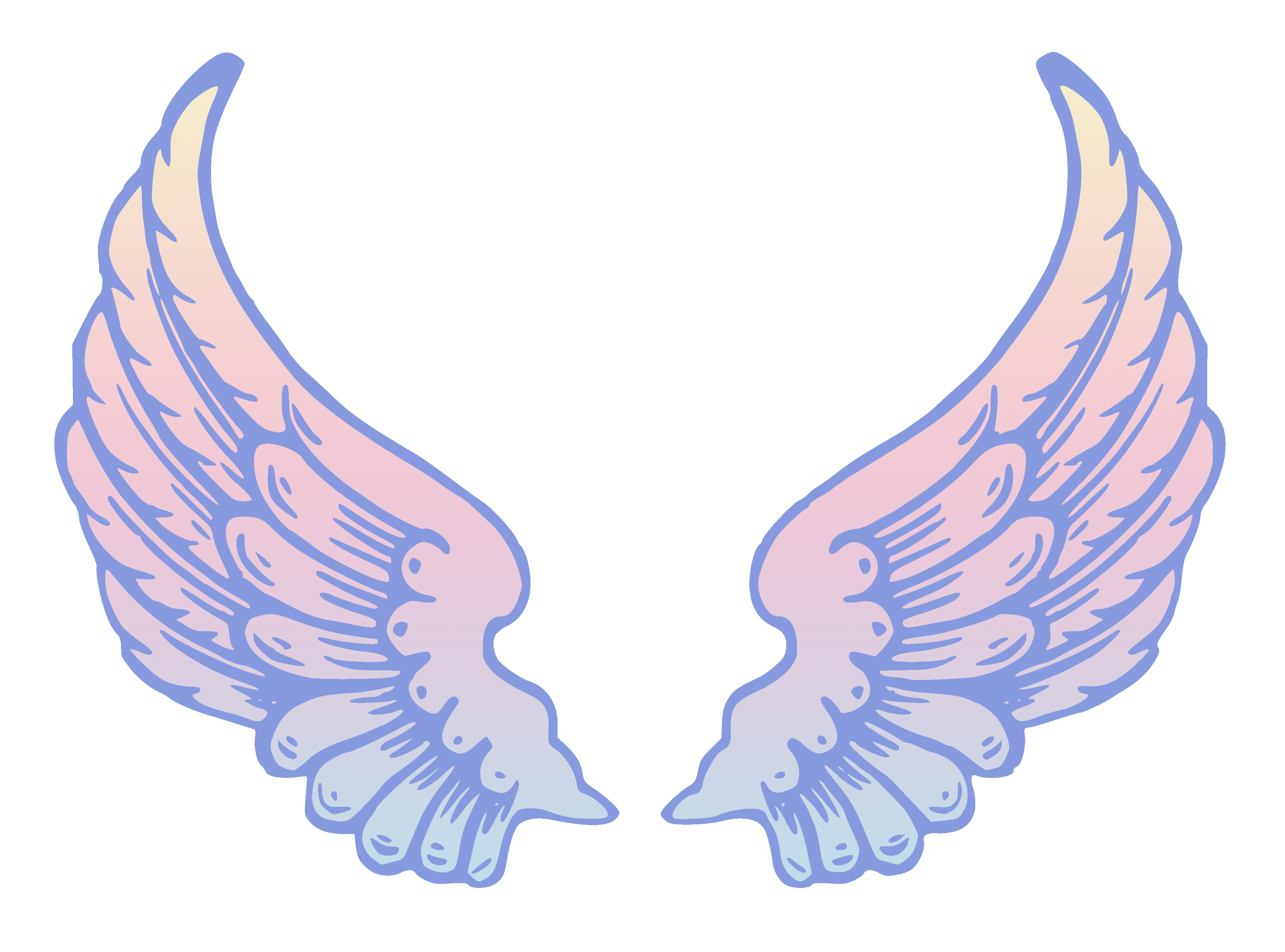 clipart royalty free download Wings clipart. Public domain pastel angel