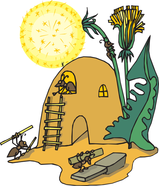 clip art royalty free library Ant home clip art. Clipart ants