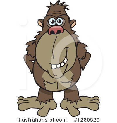 image black and white library Clipart ape. Illustration by dennis holmes