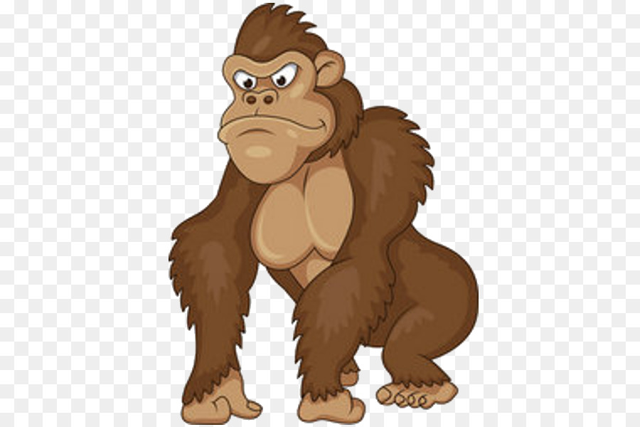 jpg black and white library Clipart ape. Bear cartoon illustration drawing