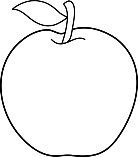 jpg library download Black and White Apple Outline