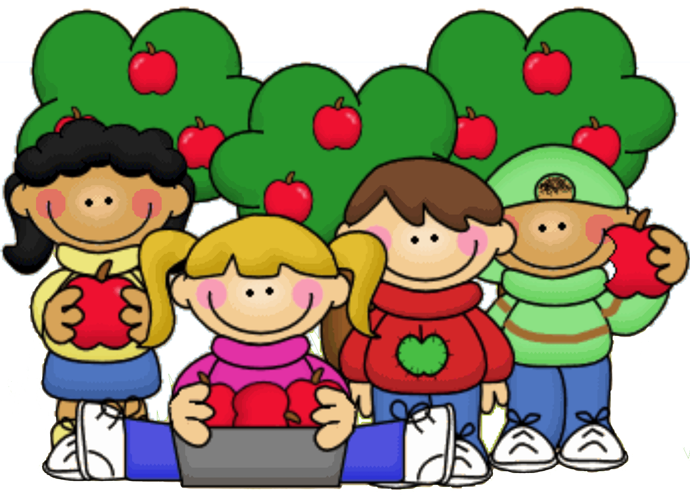 svg transparent library Little kids clipart. Apple orchard at getdrawings