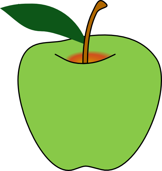 royalty free stock Apples clipart free. Green apple clip art