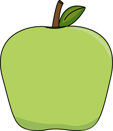 clip royalty free download Big apple clip art. Green apples clipart.