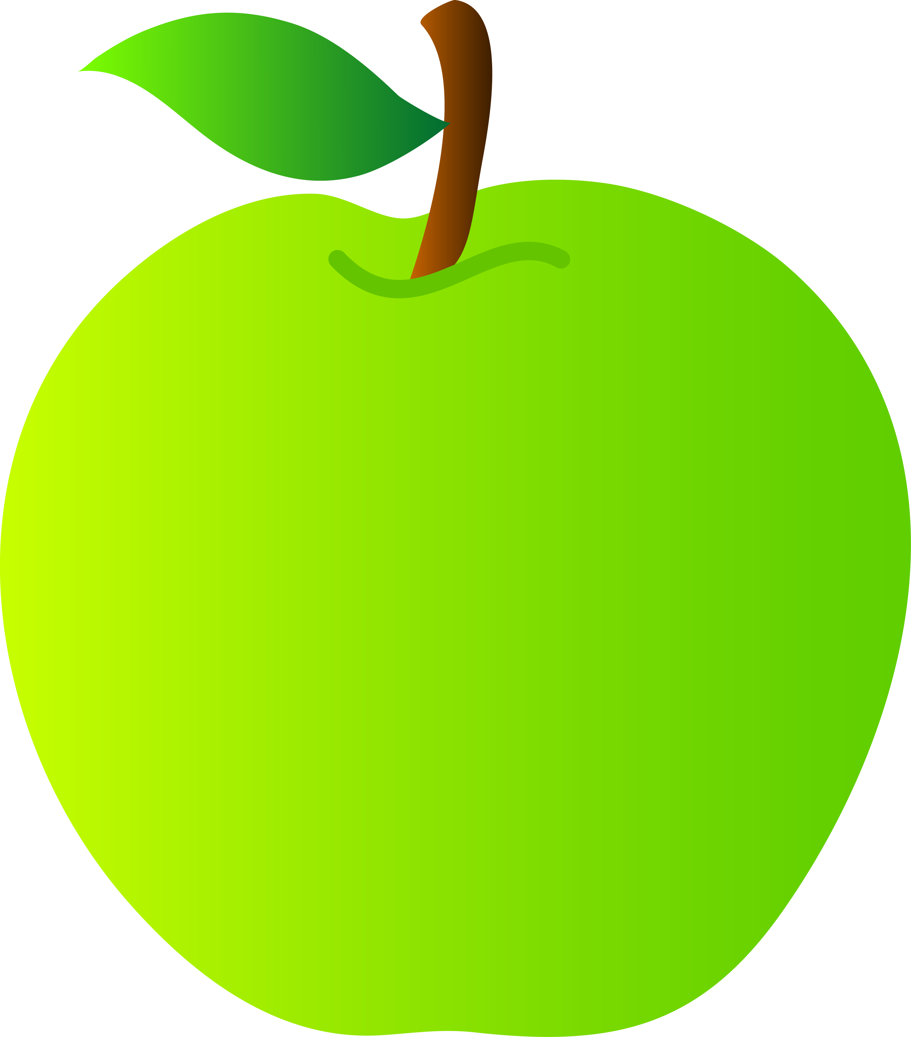 svg royalty free Bite vector. Healthy green apple clipart