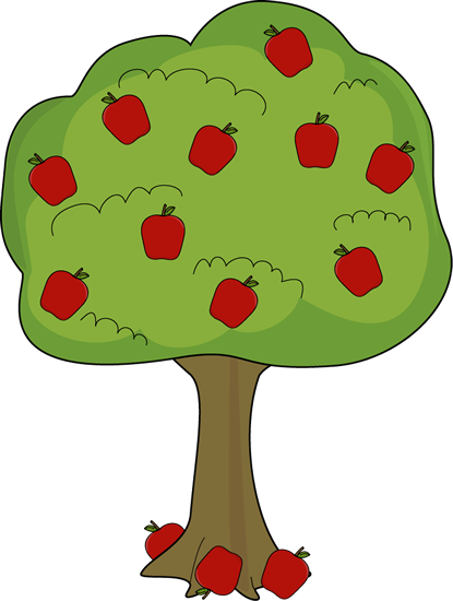 vector free library Apple Tree with Fallen Apples