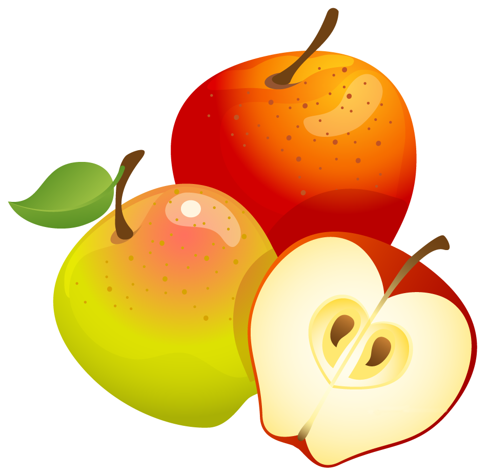 jpg transparent stock Clipart apples. Large painted png gallery.