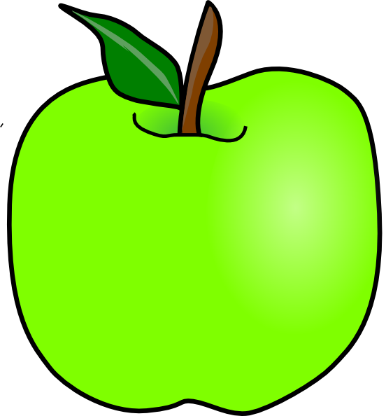 png transparent library Vector apples apple outline. Green delicious clip art