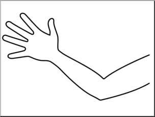 clipart freeuse download Clipart arm. Clip art parts of.