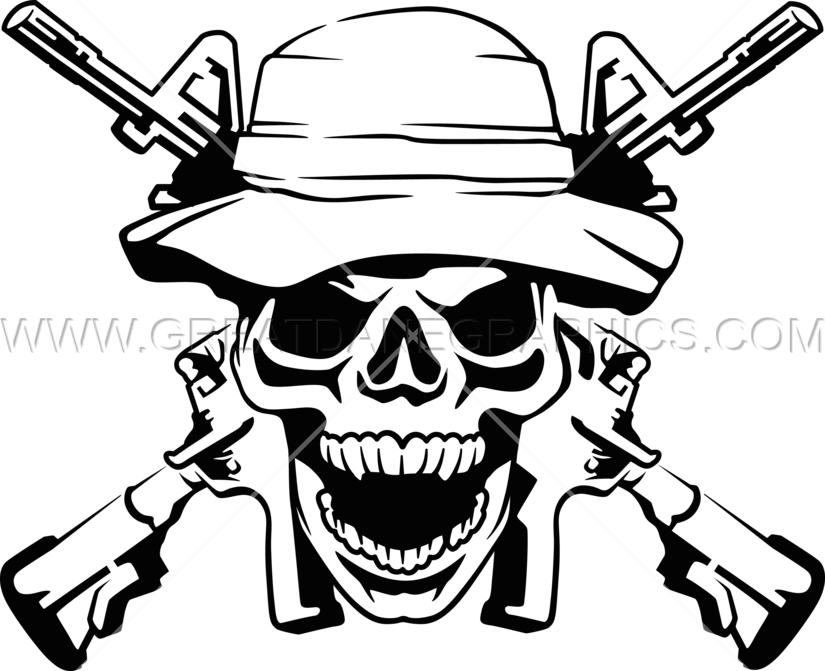jpg freeuse Clipart army soldier. Skull pencil and in