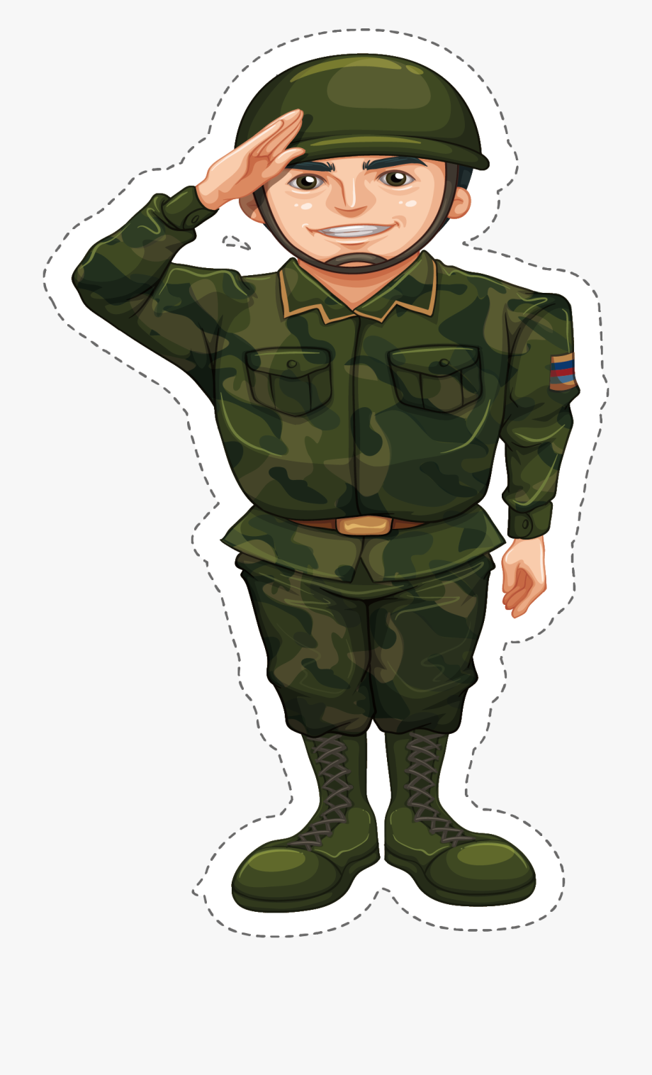 clip royalty free download Clipart army soldier. Military camouflage doing the