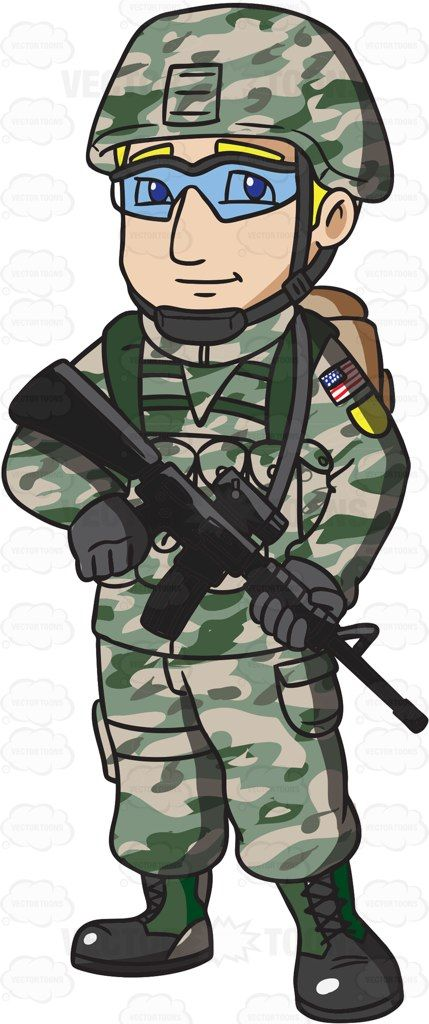 vector free stock A us infantry in. Clipart army soldier