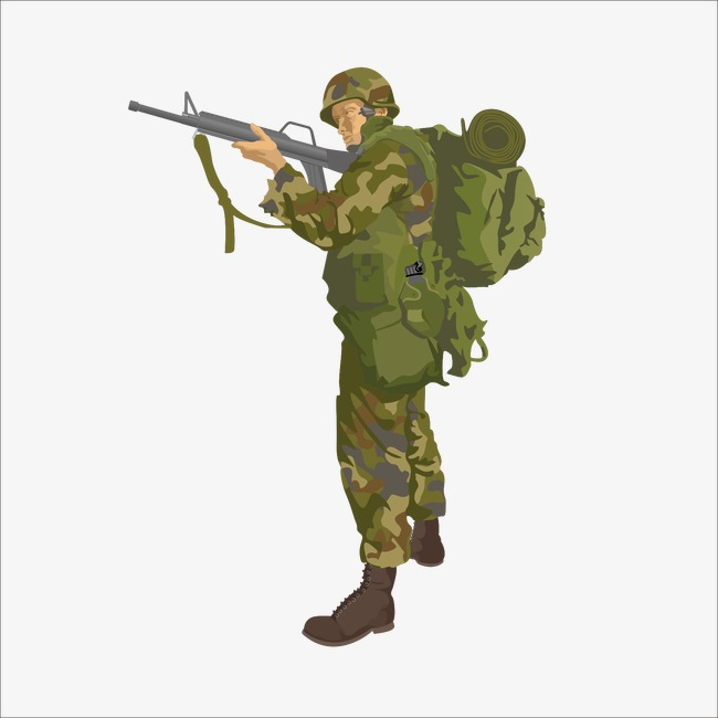 clip art royalty free download Station . Clipart army soldier