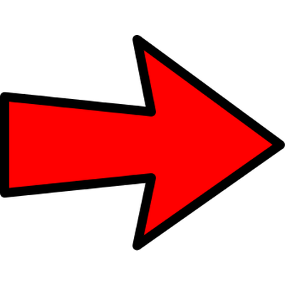 png black and white stock Clipart arrow pointing left. Red bottom transparent png.