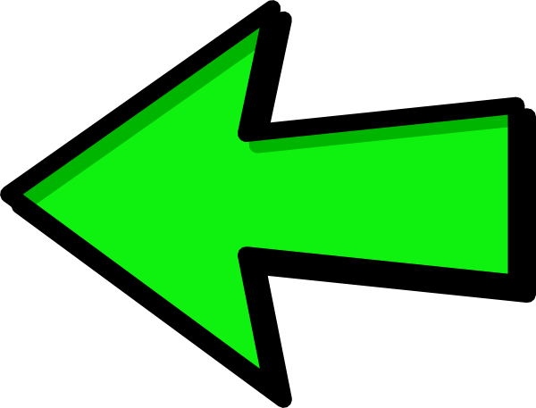 svg free download Clipart arrow pointing left. Green clip art at.