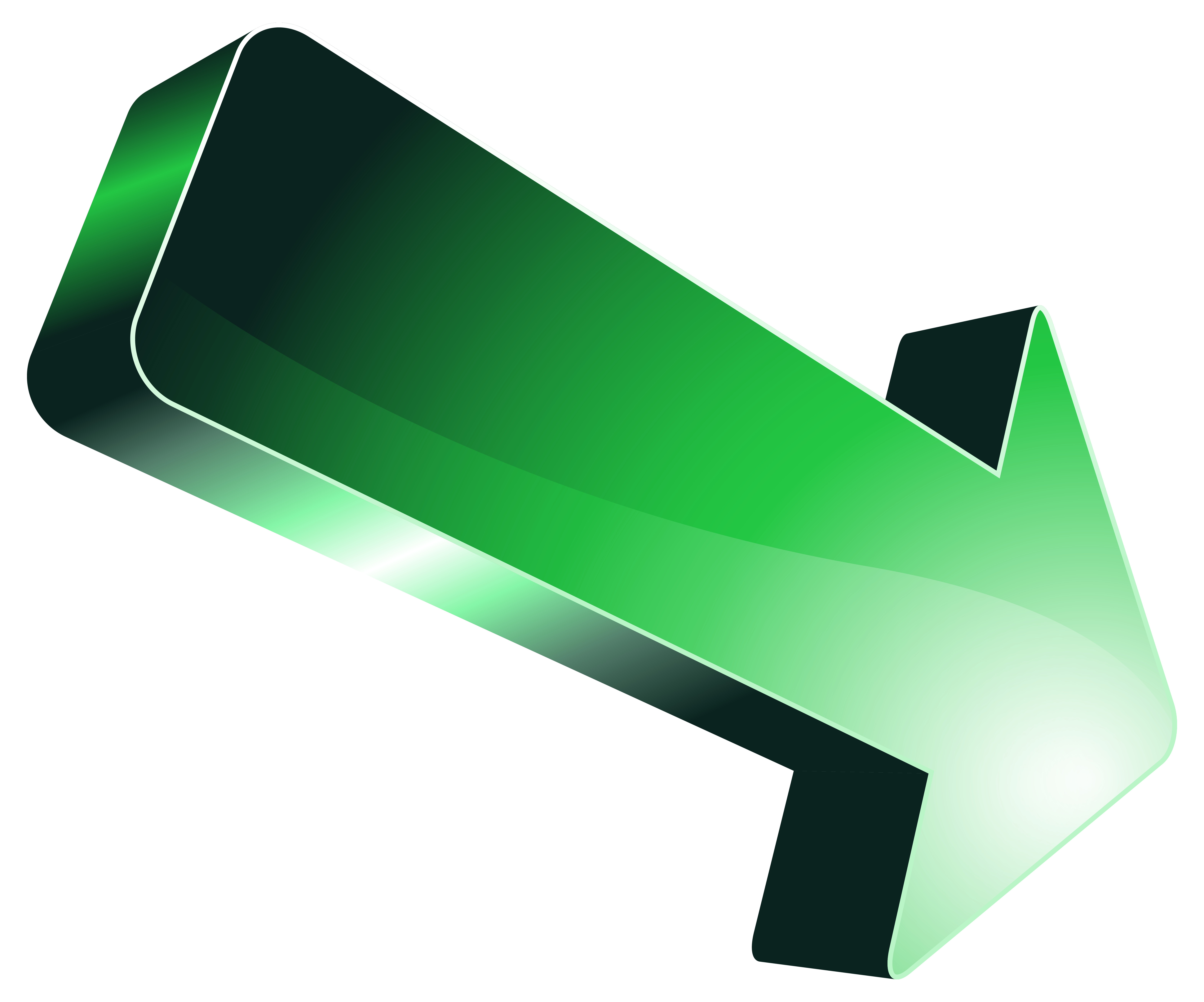 banner royalty free Green arrow at getdrawings. Clipart arrows