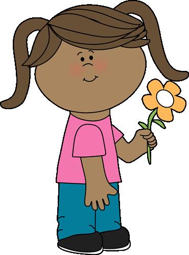 clip art transparent download Flower clip images girl. Clipart art