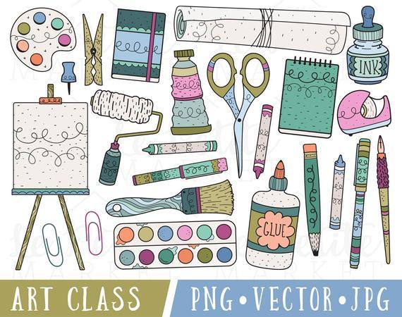 jpg stock Class clip for teachers. Clipart art supplies