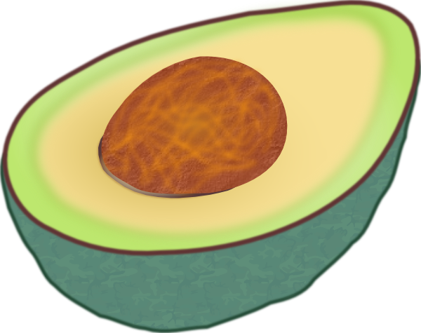 vector black and white Clip art at clker. Clipart avocado.