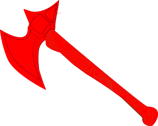 graphic free library Red Battle Axe Clip Art at Clker