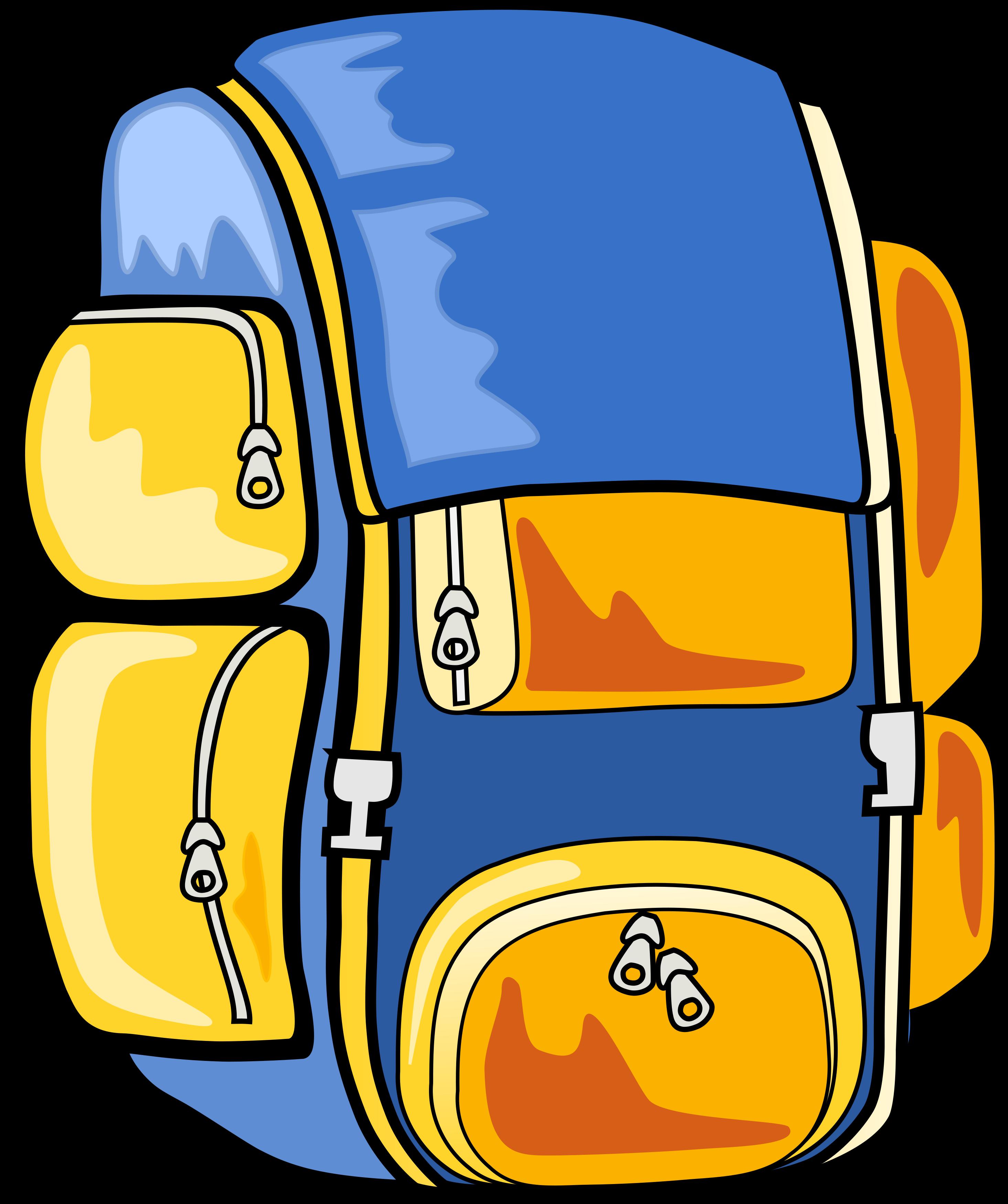 clipart transparent Bookbag clipart junior school. Backpack open panda free