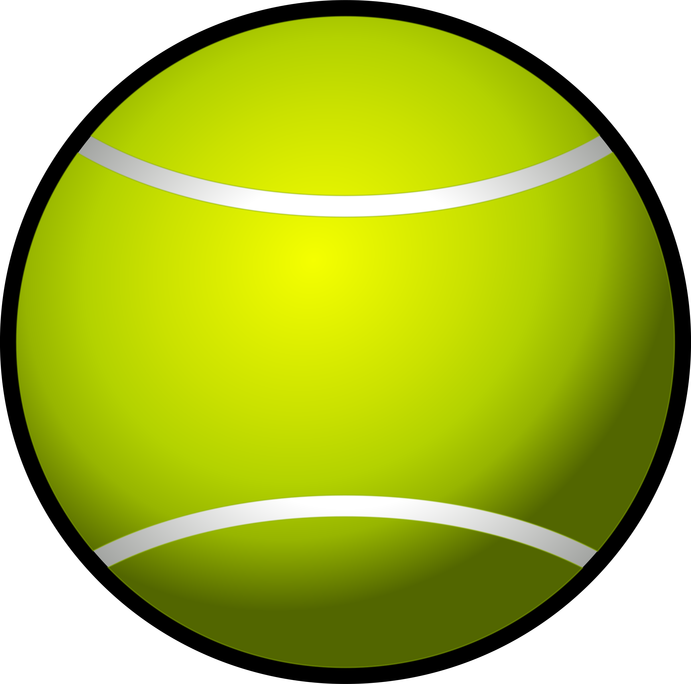clipart black and white Simple big image png. Tennis ball clipart